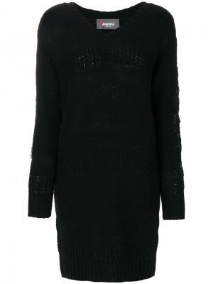 Короткое платье с длинными рукавами Jo No Fui. Цвет: синий