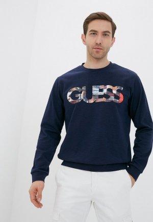 Свитшот Guess Jeans. Цвет: синий