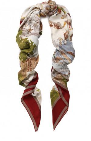 Шаль Shanghai из кашемира и шелка с принтом Loro Piana. Цвет: бордовый