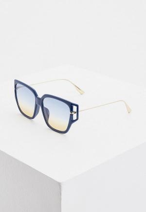 Очки солнцезащитные Christian Dior. Цвет: синий