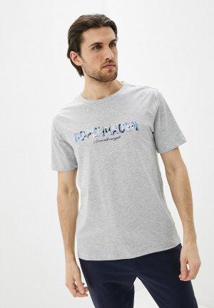 Футболка Lindbergh. Цвет: серый