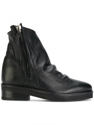 Ботинки на молнии со сборками Cinzia Araia. Цвет: чёрный