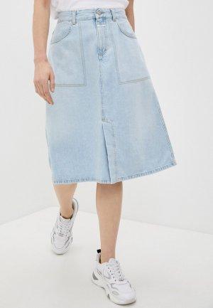 Юбка джинсовая Closed. Цвет: голубой