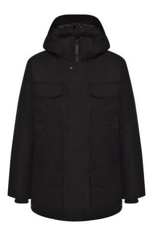 Пуховая куртка Windermere на молнии с капюшоном Canada Goose. Цвет: черный