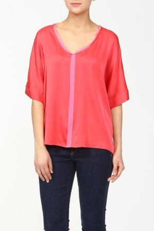 Блуза ELIE TAHARI. Цвет: коралловый