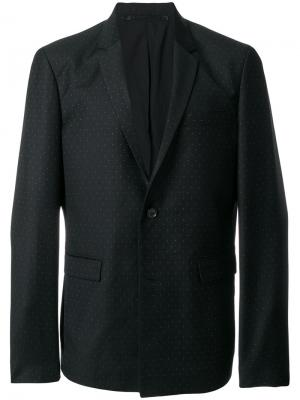 Пиджак с мелким узором в горох Kris Van Assche. Цвет: чёрный