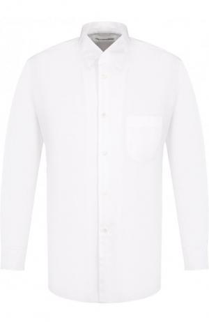 Хлопковая рубашка с воротником кент Comme des Garcons. Цвет: белый
