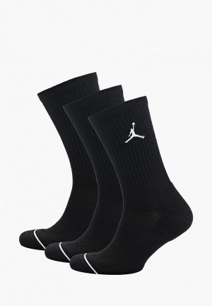 Носки 3 пары Jordan. Цвет: черный