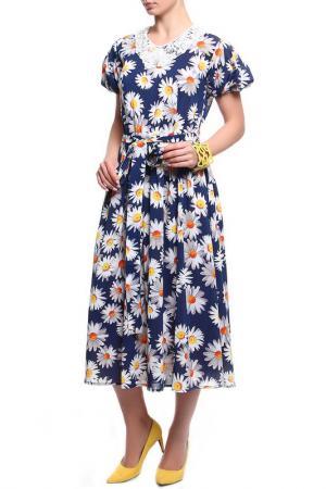 Платье Фиона KRISTINA. Цвет: мультиколор