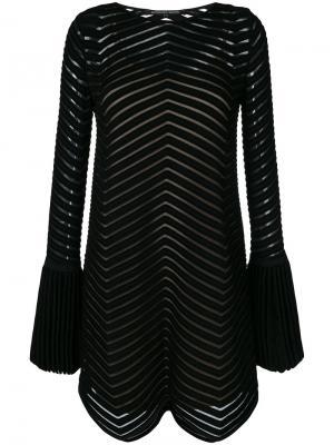 Расклешенное платье с рельефной отделкой Antonino Valenti. Цвет: чёрный