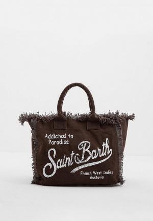 Сумка MC2 Saint Barth. Цвет: коричневый