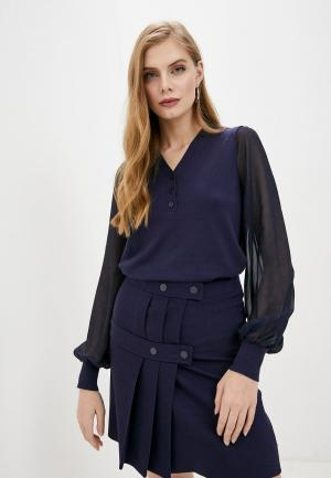 Пуловер Twinset Milano. Цвет: синий