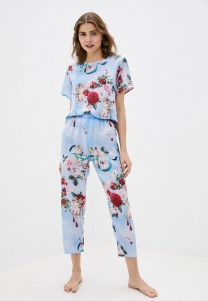 Пижама Rene Santi. Цвет: голубой