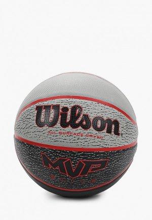Мяч баскетбольный Wilson. Цвет: серый