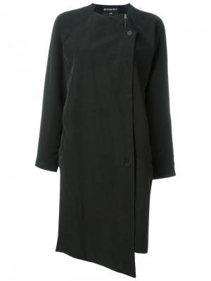 Однобортное пальто Soul Minimarket. Цвет: чёрный