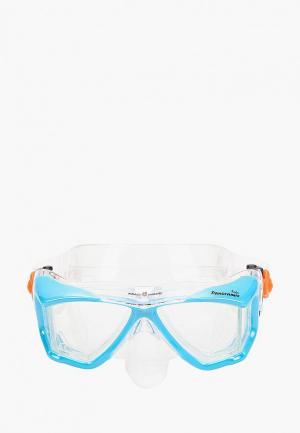 Маска для плавания MadWave. Цвет: голубой