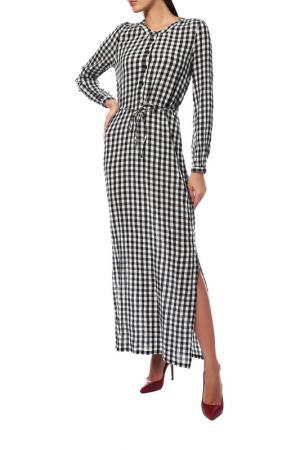 Платье KAFFE. Цвет: бело-черный