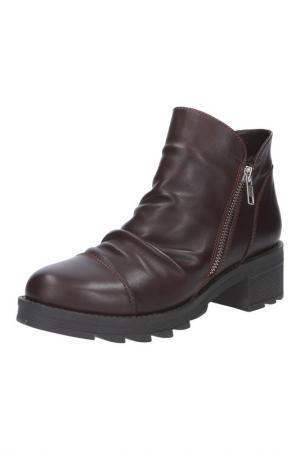 Ботинки BENTA. Цвет: темно-коричневый