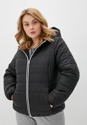Куртка утепленная Persona by Marina Rinaldi. Цвет: черный