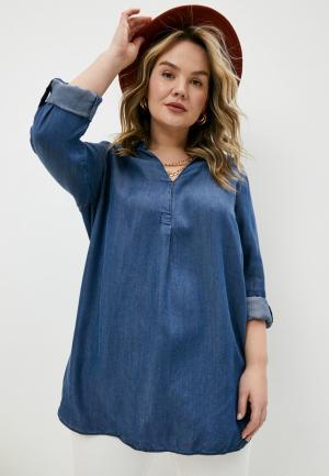 Блуза Elena Miro. Цвет: синий