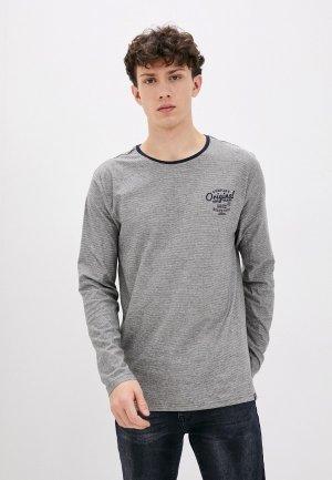 Лонгслив Jacks Sportswear Intl Jack's. Цвет: серый