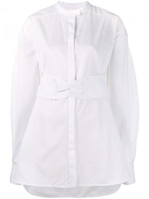 Рубашка с корсетным поясом Ellery. Цвет: белый