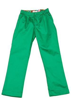 Брюки DE SALITTO. Цвет: зеленый