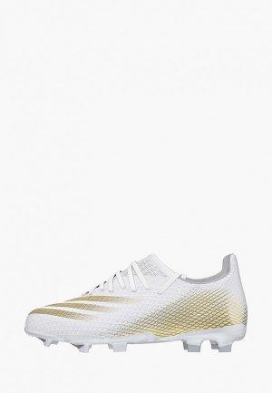 Бутсы adidas. Цвет: белый