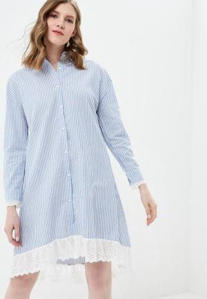 Платье Brigitte Bardot. Цвет: голубой