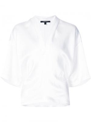 Блузка-кимоно с V-образным вырезом Derek Lam. Цвет: белый