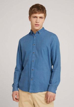 Рубашка джинсовая Tom Tailor Denim. Цвет: голубой