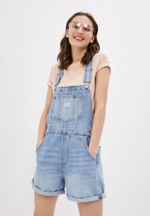 Комбинезон джинсовый Levis® Levi's®. Цвет: голубой