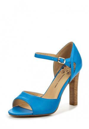 Босоножки Francesco Donni. Цвет: голубой