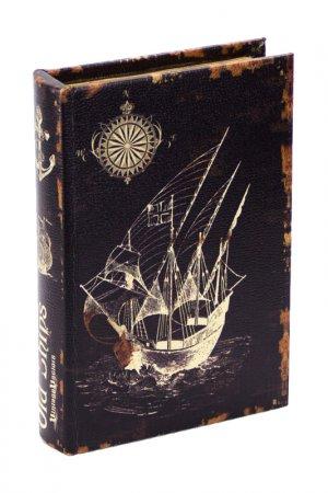 Шкатулка Старые корабли ГЛАСАР. Цвет: коричневый
