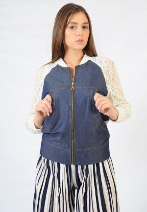 Куртка джинсовая Altezza. Цвет: синий