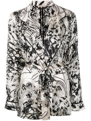 Пижамный пиджак с принтом Gold Hawk. Цвет: белый