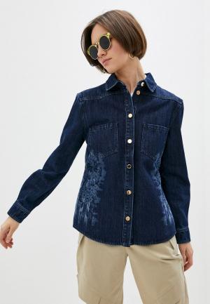 Рубашка джинсовая Alberta Ferretti. Цвет: синий